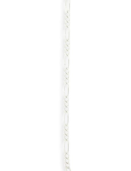 2.1x5.9mm Figaro Chain - Sterling Silver Plated (8 ft)