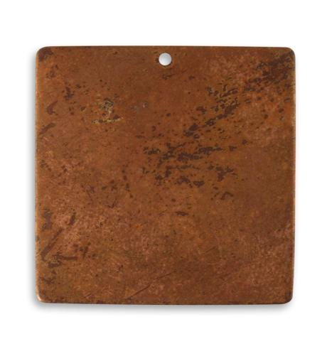 29.5mm Large Square Blank - Artisan Copper (18 pcs)