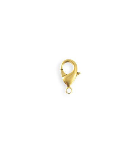 12mm Classic Lobster Clasp - 10K Gold Plated (28 pcs)