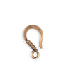 23x13mm Coiled Wire Hook - Copper Antique Plated (15 pcs)