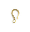 23x13mm Coiled Wire Hook - 10K Gold Antique Plated (15 pcs)
