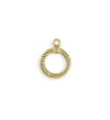 17x14mm Rib Toggle Ring - 10K Gold Antique Plated (23 pcs)
