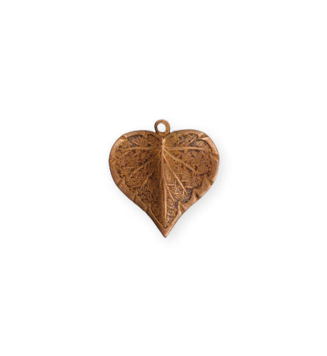 17x16mm Classic Nouveau Leaf - Artisan Copper (24 pcs)