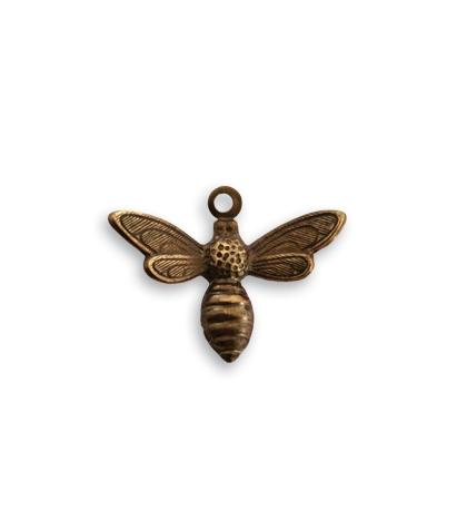 17x13mm Busy Bee Charm - Natural Brass (20 pcs)
