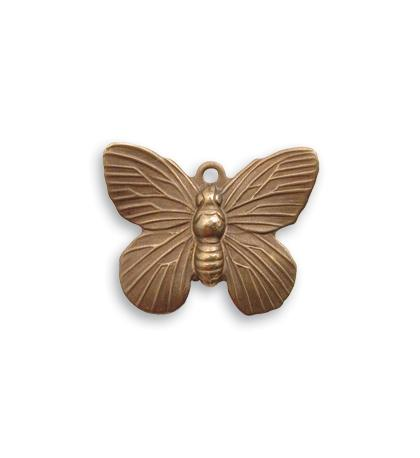 19x15mm Butterfly Charm - Natural Brass (20 pcs)