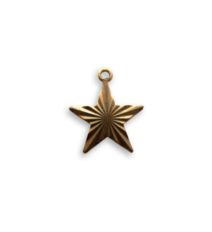 14x13mm Etched Star Charm (24 pcs)