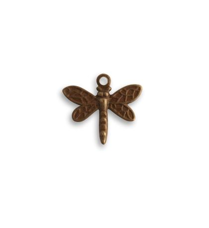 13x12mm Princess Dragonfly - Natural Brass (36 pcs)