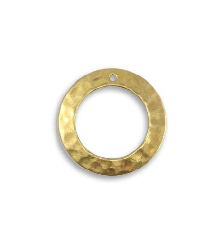19mm Tiny Hammered Ring (16 pcs)