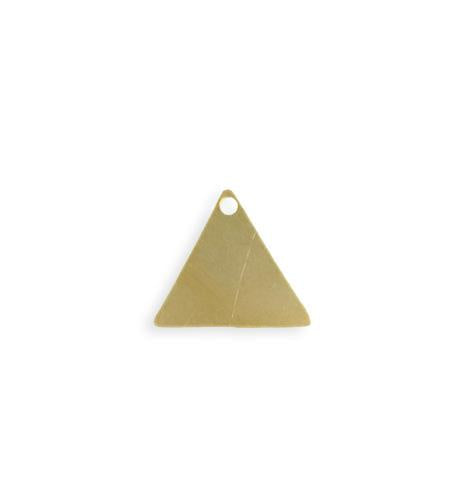 14mm Triangle Blank - Solid Brass (20 pcs)