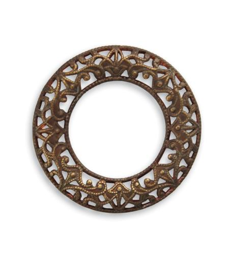 28mm Scrolled Filigree Ring (18 pcs)
