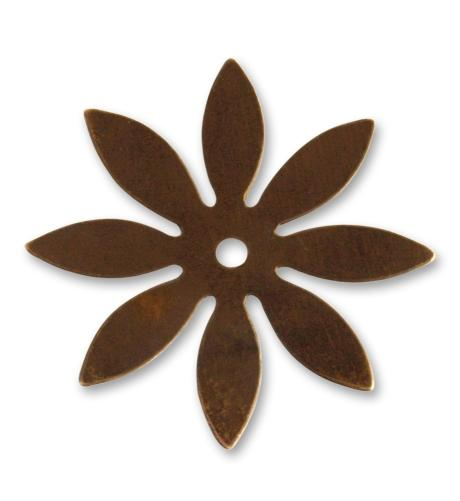 34mm Eight Petal Cut Out - Natural Brass (36 pcs)