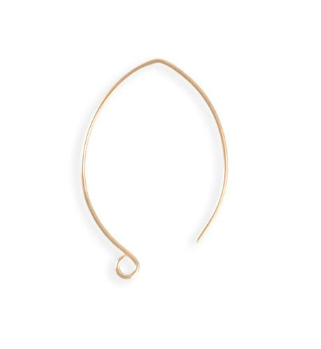 35mm Marquise Ear Wires - Rose Gold Plated (46 pcs)