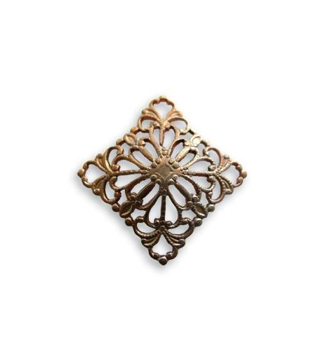 20mm Square Dapped Filigree (18 pcs)
