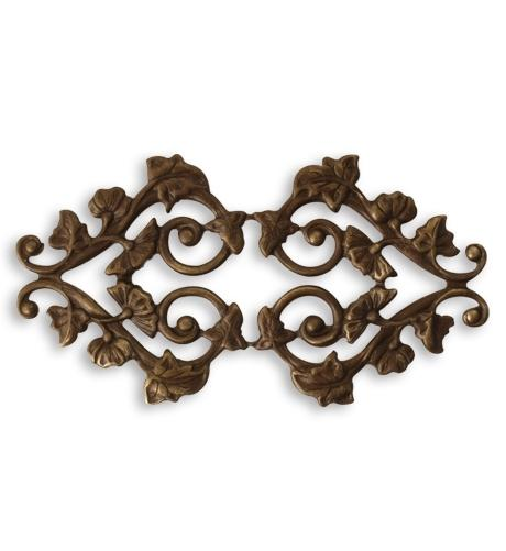 59x31mm Deco Vines Filigree - Natural Brass (10 pcs)