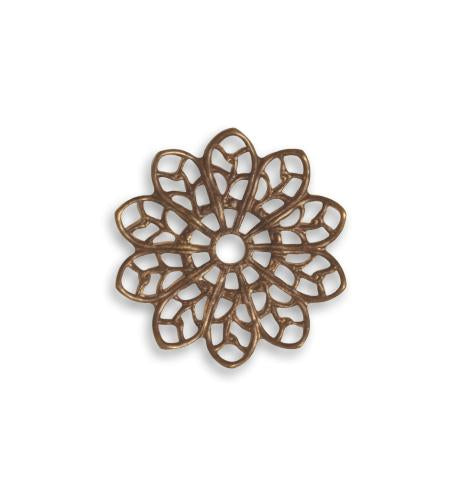 20.5mm Filigree Flower (30 pcs)