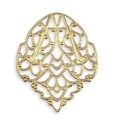 33x28mm Delicate Crest Filigree (10 pcs)
