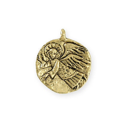 25.5x22mm Guardian Angel [Green Girl Studios] - 10K Gold Antique (1pc)