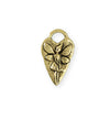 25x15mm Fairy Heart [Green Girl Studios] - 10K Gold Antique (1pc)
