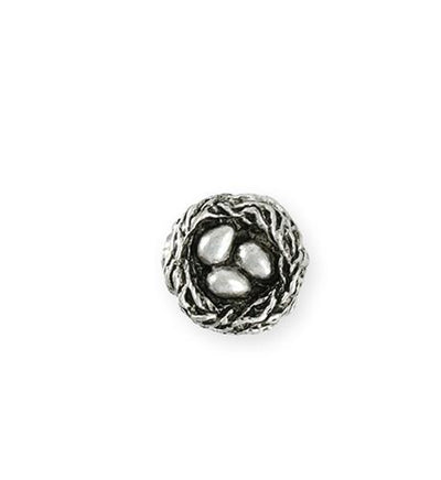 16mm Home Nest [Green Girl Studios] - Sterling Silver Antique (1pc)