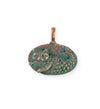 23.5x23mm Catfish [Green Girl Studios] - Copper Verdigris (1pc)