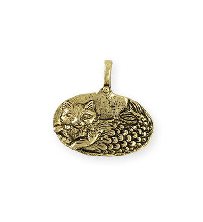 23.5x23mm Catfish [Green Girl Studios] - 10K Gold Antique (1pc)