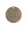27.5mm Grateful Heart [Green Girl Studios] - Copper Verdigris (1pc)