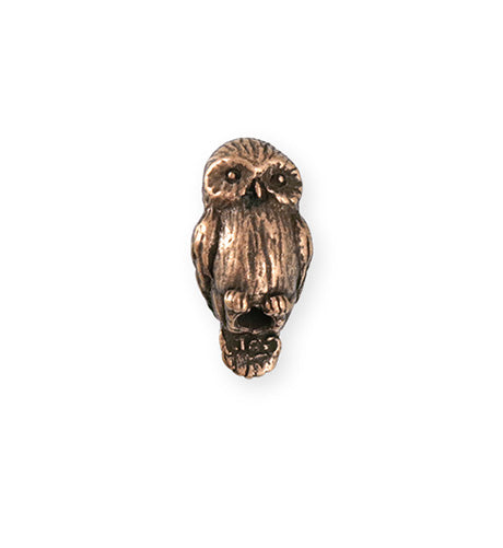 23x12mm Barn Owl [Green Girl Studios] - Copper Antique (1pc)