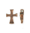 23x18mm Dove Cross [Green Girl Studios] - Copper Antique (1pc)