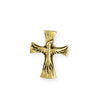 23x18mm Dove Cross [Green Girl Studios] - 10K Gold Antique (1pc)