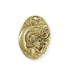 31x22mm Mermaid Pearl Coin [Green Girl Studios] - 10K Gold Antique (1pc)