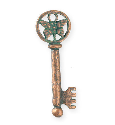 44x15mm Butterfly Key [Green Girl Studios] - Copper Verdigris (1pc)