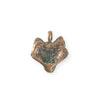 19.5x18.5mm Wolf [Green Girl Studios] - Copper Verdigris (1pc)