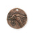 29x28.5mm Bird Hope Coin [Green Girl Studios] - Copper Antique (1pc)