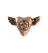 32.5x20mm Follow Heart [Green Girl Studios] - Copper Antique (1pc)