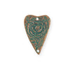 27.5x18mm Heart Rose [Green Girl Studios] - Copper Verdigris (1pc)