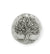 29.5x28.5mm Knowledge Tree [Green Girl Studios] - Sterling Silver Antique (1pc)