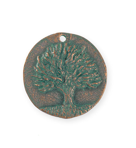 29.5x28.5mm Knowledge Tree [Green Girl Studios] - Copper Verdigris (1pc)