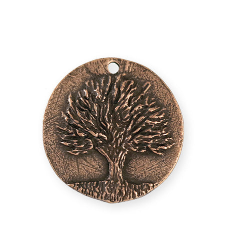 29.5x28.5mm Knowledge Tree [Green Girl Studios] - Copper Antique (1pc)