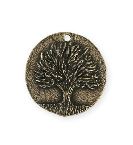 29.5x28.5mm Knowledge Tree [Green Girl Studios] - Bronze Antique (1pc)