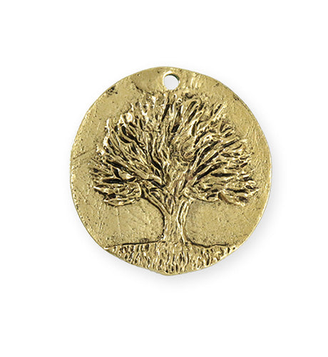 29.5x28.5mm Knowledge Tree [Green Girl Studios] - 10K Gold Antique (1pc)
