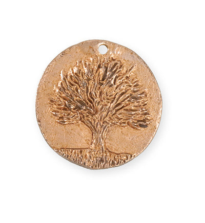 29.5x28.5mm Knowledge Tree [Green Girl Studios] - Rose Gold Antique (1pc)