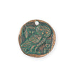 26x25.5mm Owl Coin [Green Girl Studios] - Copper Verdigris (1pc)