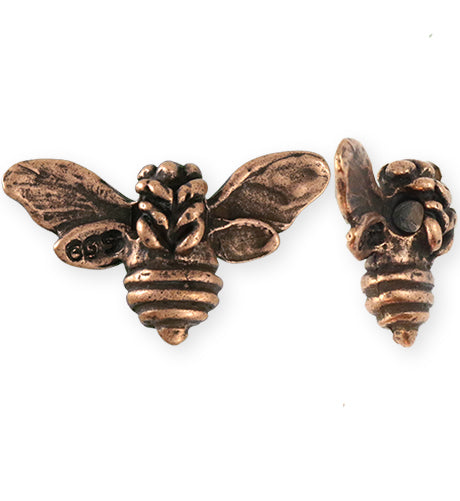 34.5x20mm Honeybee [Green Girl Studios] - Copper Antique (1pc)