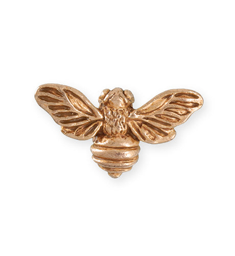 34.5x20mm Honeybee [Green Girl Studios] - Rose Gold Antique (1pc)