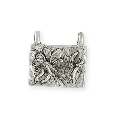 22.5x22mm Pixie [Green Girl Studios] - Sterling Silver Antique (1pc)