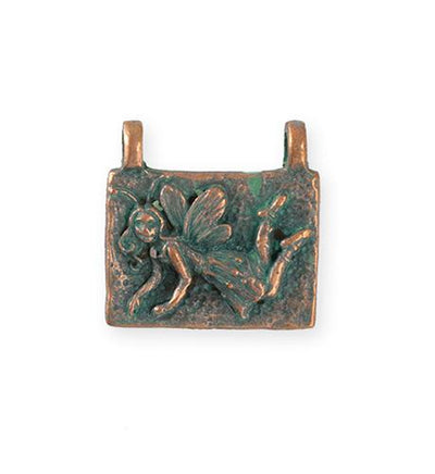 22.5x22mm Pixie [Green Girl Studios] - Copper Verdigris (1pc)