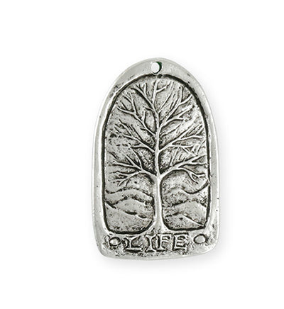 34x21mm Tree Of Life [Green Girl Studios] - Sterling Silver Antique (1pc)