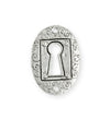 30.5x21.5mm Keyhole Coin [Green Girl Studios] - Sterling Silver Antique (1pc)