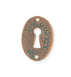 30.5x21.5mm Keyhole Coin [Green Girl Studios] - Copper Verdigris (1pc)