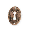 30.5x21.5mm Keyhole Coin [Green Girl Studios] - Copper Antique (1pc)